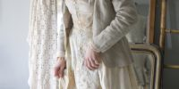 Vintage linen and organic bamboo steampunk tailcoat jacket